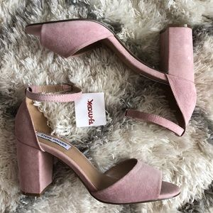 Pink Steve Madden Block Heels
